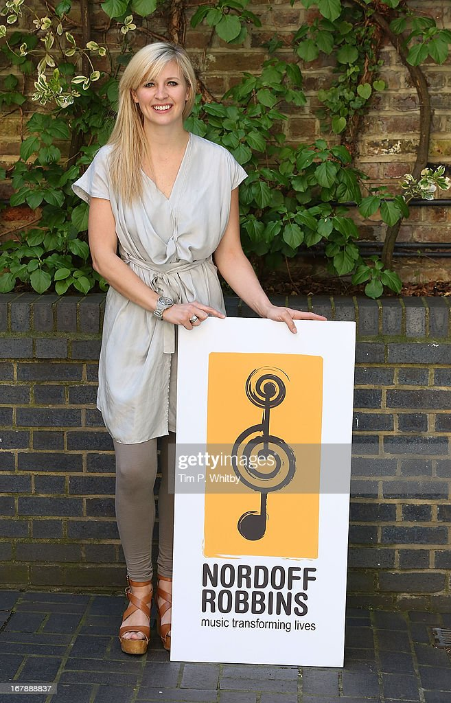 Musician Alison Balsom visits the Nordoff Robbins Music Therapy Centre on May 2, 2013 in London, England.