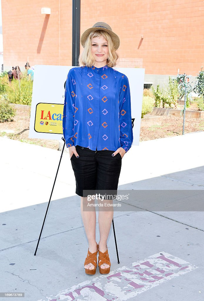Musician Alison Sudol (aka A Fine Frenzy) and The Environmental Media Association's Young Hollywood Board visit Helen Bernstein High School on May 30, 2013 in Hollywood, California.