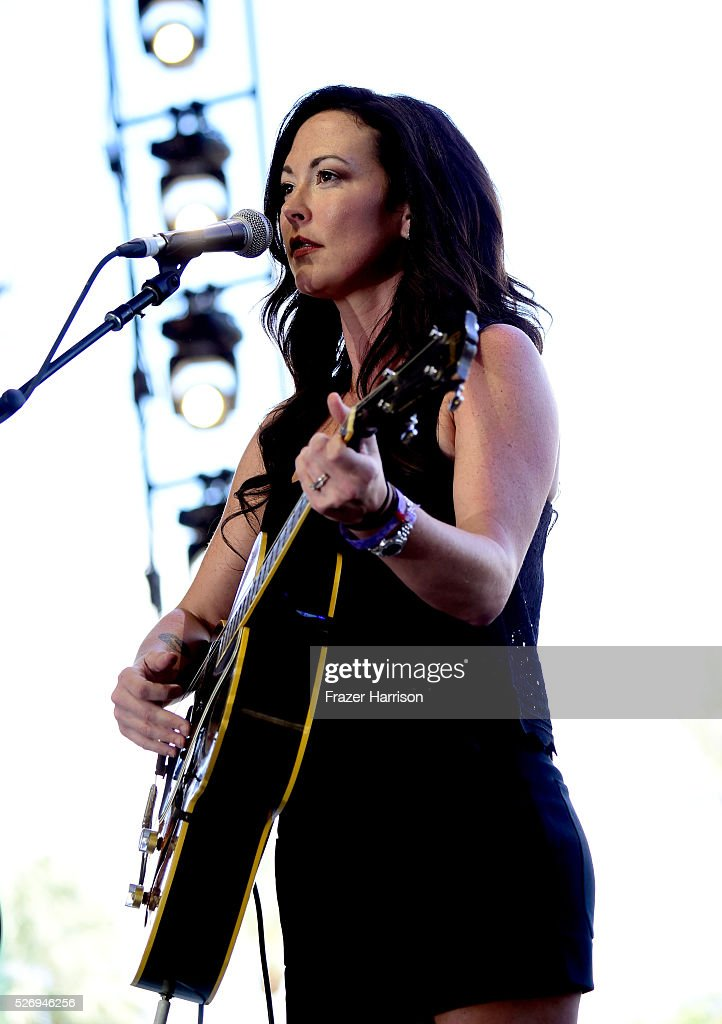 Musician Amanda Shires performs onstage during 2016 Stagecoach California's Country Music Festival at Empire Polo Club on May 01, 2016 in Indio, California.