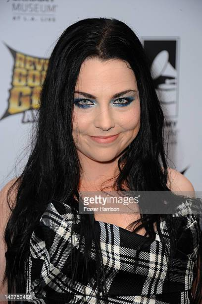 Musician Amy Lee arrives at the 2012 Revolver Golden Gods Award Show at Club Nokia on April 11 2012 in Los Angeles California