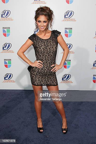 Musician Anahi attends the Univision Premios Juventud Awards at BankUnited Center on July 15 2010 in Miami Florida