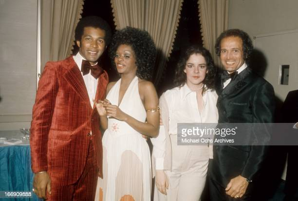 Musician and actor Clifton Davis attends an event with actresses Jonelle Allen and Stockard Channing circa 1975 in Los Angeles California