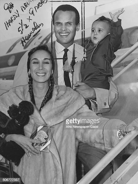 Musician and actor Harry Belafonte October 25 1958