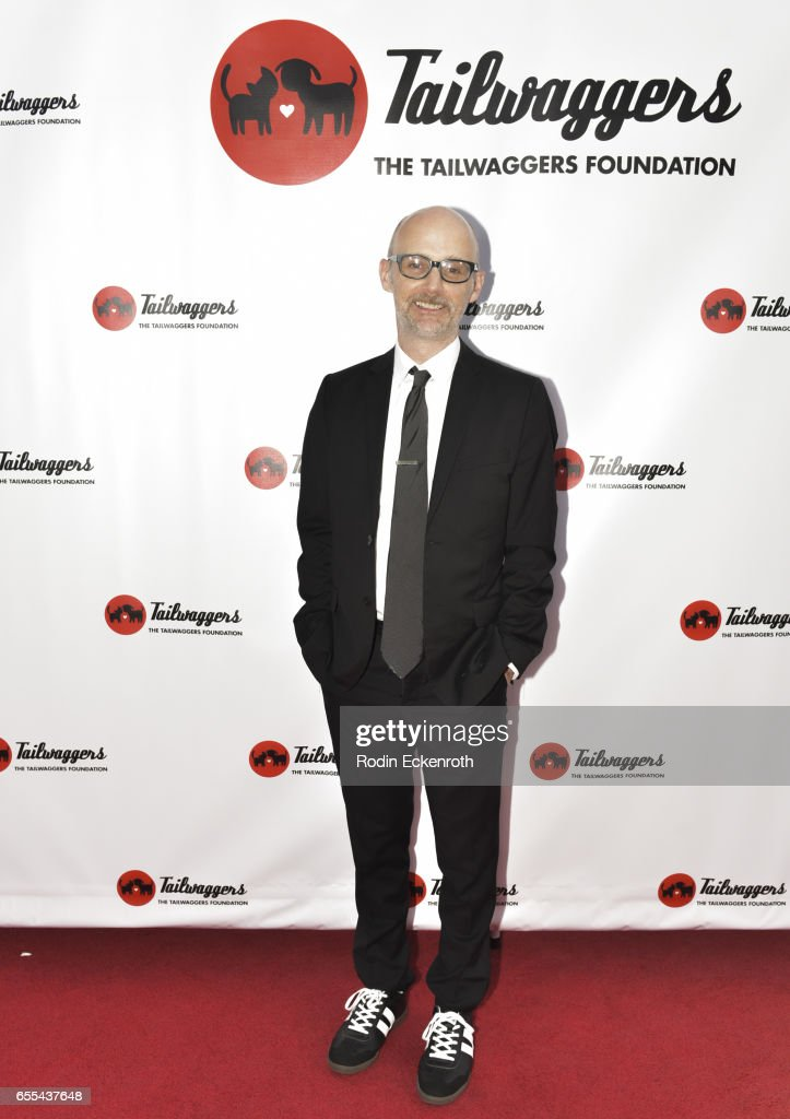 Musician and animal rights activist Moby arrives at The Tailwaggers Foundation, 2017 Waggy Awards at Taglyan Cultural Complex on March 19, 2017 in Hollywood, California.