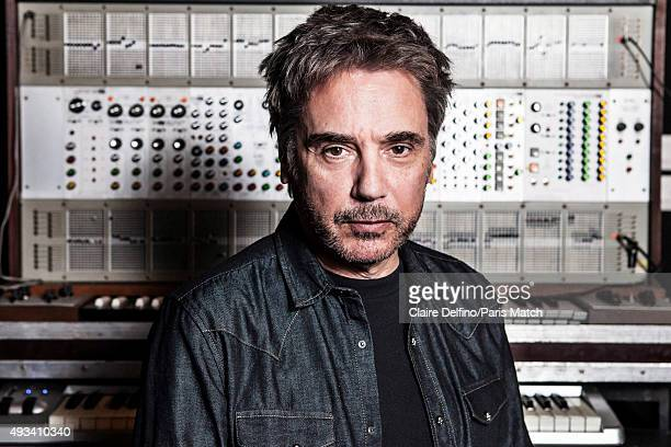 Musician and composer Jean Michel Jarre is photographed for Paris Match on April 23 2015 in Paris France