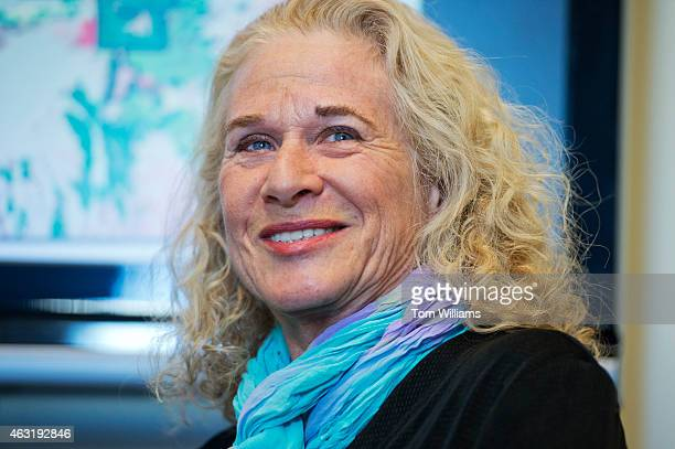 Musician and conservationist Carole King and Rep Carolyn Maloney DNY not pictured conduct a news conference in Rayburn Building on the reintroduction...