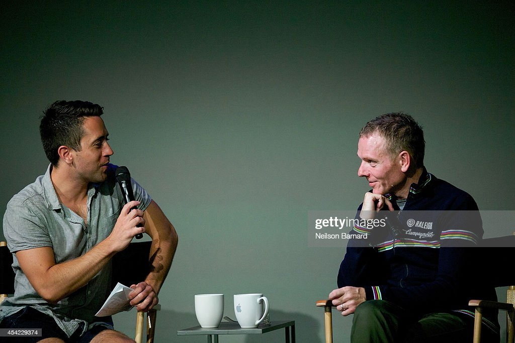 Musician and filmmaker <a gi-track='captionPersonalityLinkClicked' href=/galleries/search?phrase=Stuart+Murdoch&family=editorial&specificpeople=550306 ng-click='$event.stopPropagation()'>Stuart Murdoch</a> (R) speaks with Nigel Smith from Indiewire on stage during the Apple series 'Meet the Filmmaker: <a gi-track='captionPersonalityLinkClicked' href=/galleries/search?phrase=Stuart+Murdoch&family=editorial&specificpeople=550306 ng-click='$event.stopPropagation()'>Stuart Murdoch</a>' and chats about his new film 'God Help the Girl' at Apple Store Soho on August 26, 2014 in New York City.