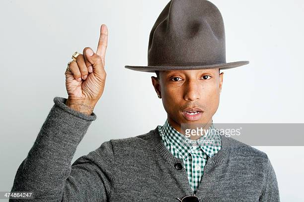 Musician and producer Pharrell Williams is photographed for Los Angeles Times on February 10 2014 in Beverly Hills California PUBLISHED IMAGE CREDIT...