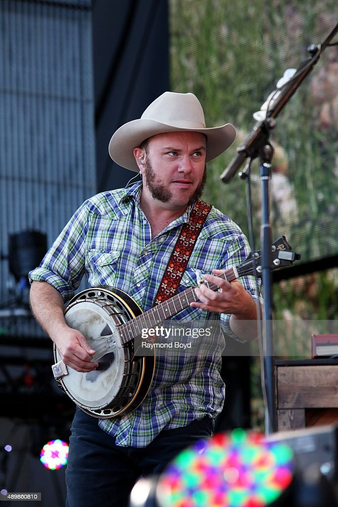 Musician and Singer Critter Fuqua from Old Crow Medicine Show performs at FirstMerit Bank Pavilion at Northerly Island during 'Farm Aid 30' on...