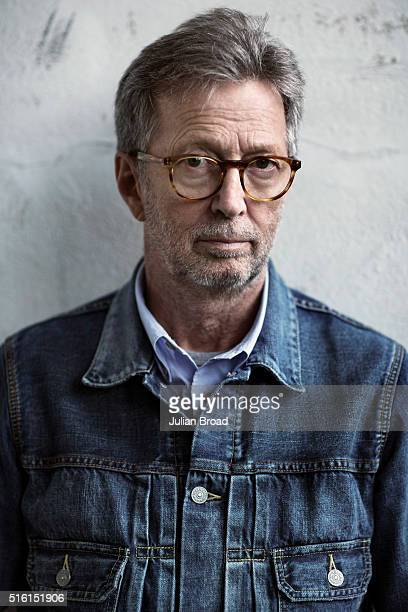 Musician and singer Eric Clapton is photographed for Rolling Stone magazine on May 8 2014 in London England
