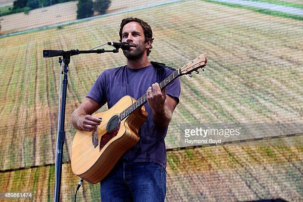 Musician and Singer Jack Johnson performs at FirstMerit Bank Pavilion at Northerly Island during 'Farm Aid 30' on September 19 2015 in Chicago...