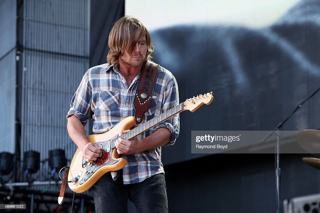 Musician and Singer Lukas Nelson from Lukas Nelson and Promise Of The Real performs at FirstMerit Bank Pavilion at Northerly Island during 'Farm Aid...
