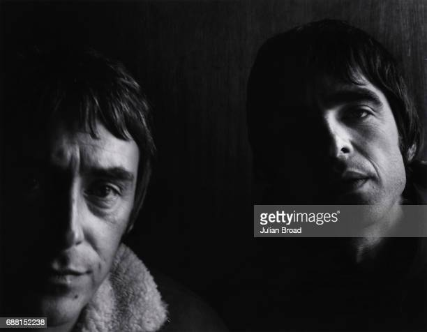 Musician and singers Paul Weller and Noel Gallagher are photographed for the Observer in London England