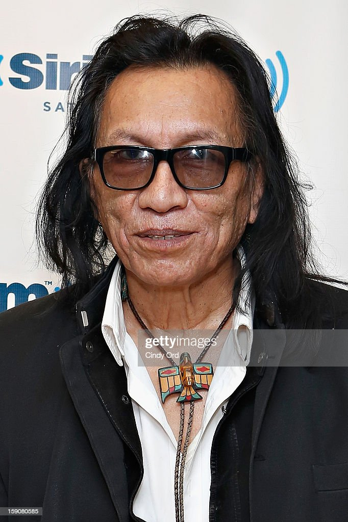 Musician and subject of the film 'Searching for Sugar Man' Rodriguez visits the SiriusXM Studios on January 7, 2013 in New York City.