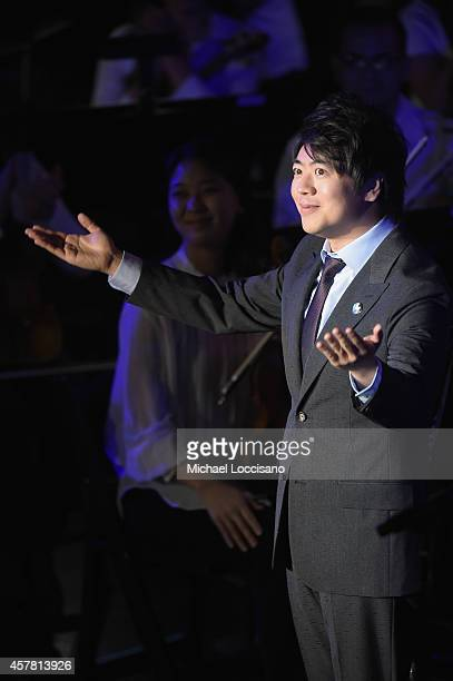 Musician and UN Messenger of Peace Lang Lang performs at the 2014 United Nations Day Concert at United Nations on October 24 2014 in New York City