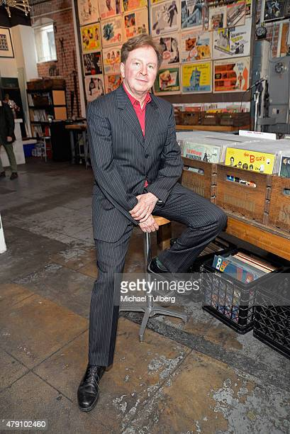 Musician and winemaker Gerald Casale of DEVO attends a wine tasting of his The 50 By 50 wine brand at The Record Parlour on June 30 2015 in Hollywood...