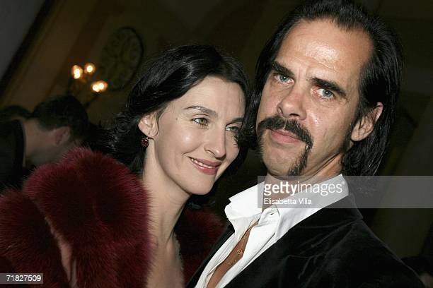 Musician and writer Nick Cave and wife Susie Bick attend the Gucci Group Award at Palazzo Grassi in Venice during the tenth day of the 63rd Venice...
