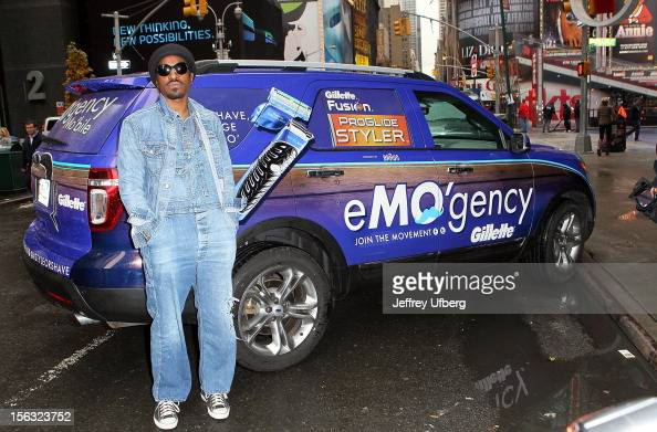 Musician Andre 3000 joins Gillette in support of Movember on November 13 2012 in New York City