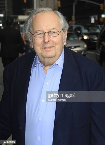 Musician Andre Previn is seen arriving at the 'Late Show With David Letterman' at the Ed Sullivan Theater on September 29 2011 in New York City