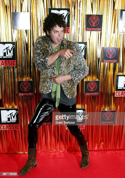 Musician Andrew Stockdale of Wolfmother arrives at the 'MTV Classic The Launch' music event at the Palace Theatre on April 28 2010 in Melbourne...