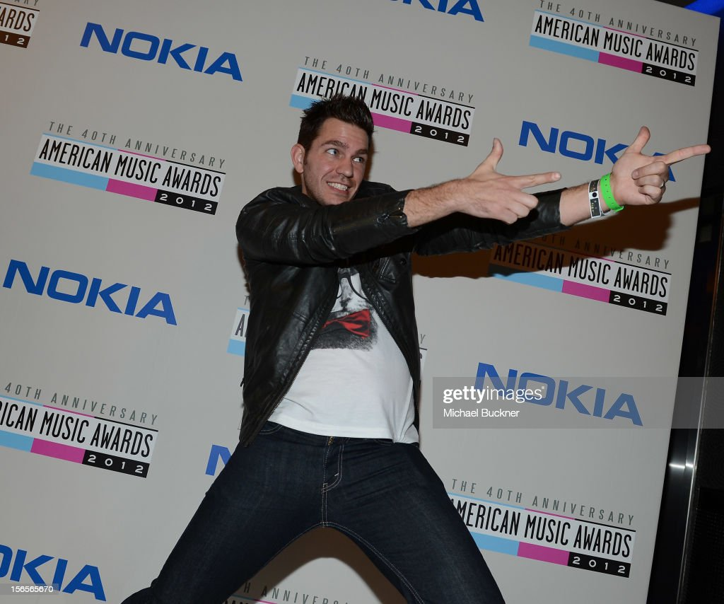 Musician <a gi-track='captionPersonalityLinkClicked' href=/galleries/search?phrase=Andy+Grammer&family=editorial&specificpeople=7469992 ng-click='$event.stopPropagation()'>Andy Grammer</a> arrives at The 40th American Music Awards celebration of Electronic Dance Music at Nokia Theatre L.A. Live on November 16, 2012 in Los Angeles, California.