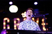 Musician Andy Grammer performs at 2014 Summer Stage Series At The Grove at The Grove on July 30 2014 in Los Angeles California