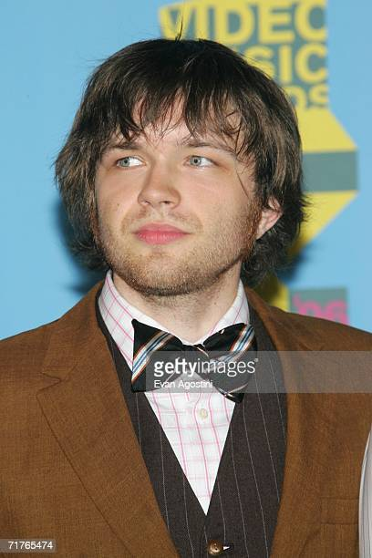 Musician Andy Ross of OK go poses in the press room during the 2006 MTV Video Music Awards at Radio City Music Hall August 31 2006 in New York City