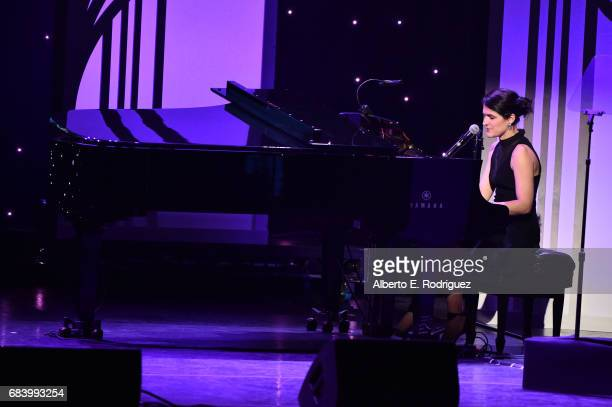 Musician Angela Parrish performs onstage at the 2017 ASCAP Screen Music Awards at The Wiltern on May 16 2017 in Los Angeles California