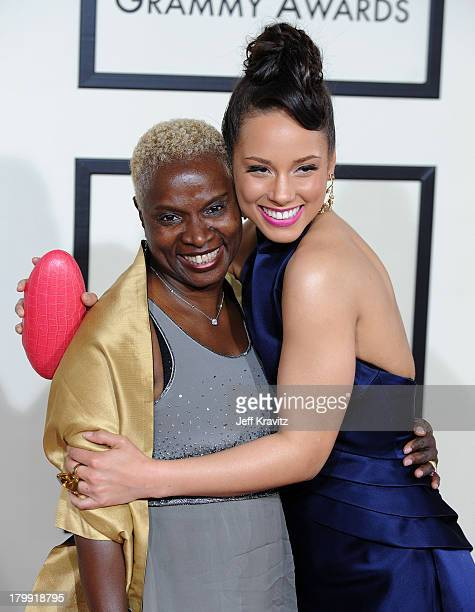 Musician Angelique Kidjo and Singer Alicia Keys arrive to the 50th Annual GRAMMY Awards at the Staples Center on February 10 2008 in Los Angeles...