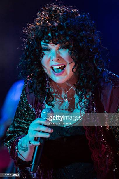 Musician Ann Wilson of Heart performs at The Greek Theatre on August 22 2013 in Los Angeles California