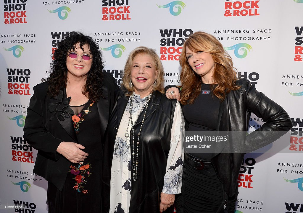 Musician Ann Wilson of Heart, The Annenberg Foundation President and Chairman of the Board <a gi-track='captionPersonalityLinkClicked' href=/galleries/search?phrase=Wallis+Annenberg&family=editorial&specificpeople=3141190 ng-click='$event.stopPropagation()'>Wallis Annenberg</a> and musician Nancy Wilson of Heart attend the Who Shot Rock & Roll Opening Night VIP Reception at the Annenberg Space For Photography on June 21, 2012 in Century City, California.