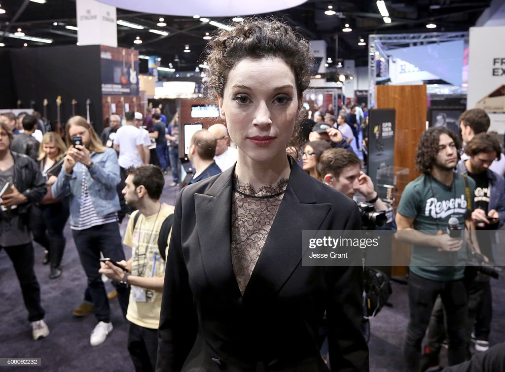 Musician Annie Clark a.k.a St. Vincent attends the 2016 NAMM Show Opening Day at the Anaheim Convention Center on January 21, 2016 in Anaheim, California.