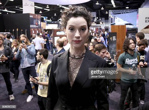 Musician Annie Clark aka St Vincent attends the 2016 NAMM Show Opening Day at the Anaheim Convention Center on January 21 2016 in Anaheim California