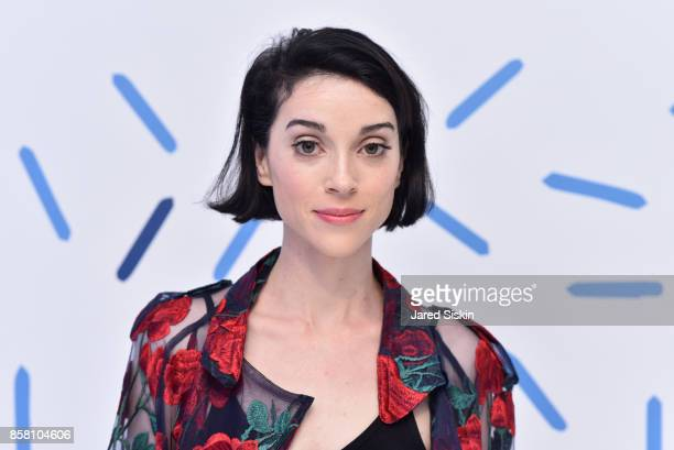 Musician Annie Clark from St Vincent attends St Vincent Peroni Nastro Azzurro Unveil Second Edition of The House of Peroni House of Peroni on October...