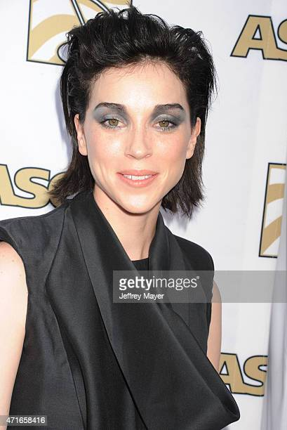 Musician Annie Clark of St Vincent arrive at the 32nd Annual ASCAP Pop Music Awards at Lowes Hollywood Hotel on April 29 2015 in Hollywood California