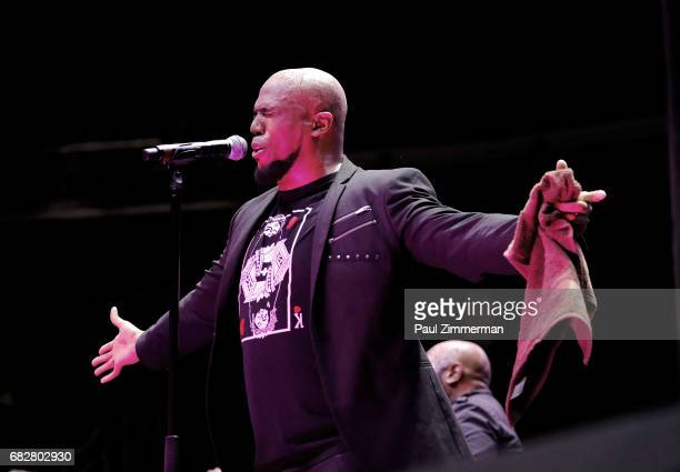 Musician Anthony Brown performs onstage at the 35th Anniversary Mother's Day Weekend Gospelfest 2017 at Prudential Center on May 13 2017 in Newark...