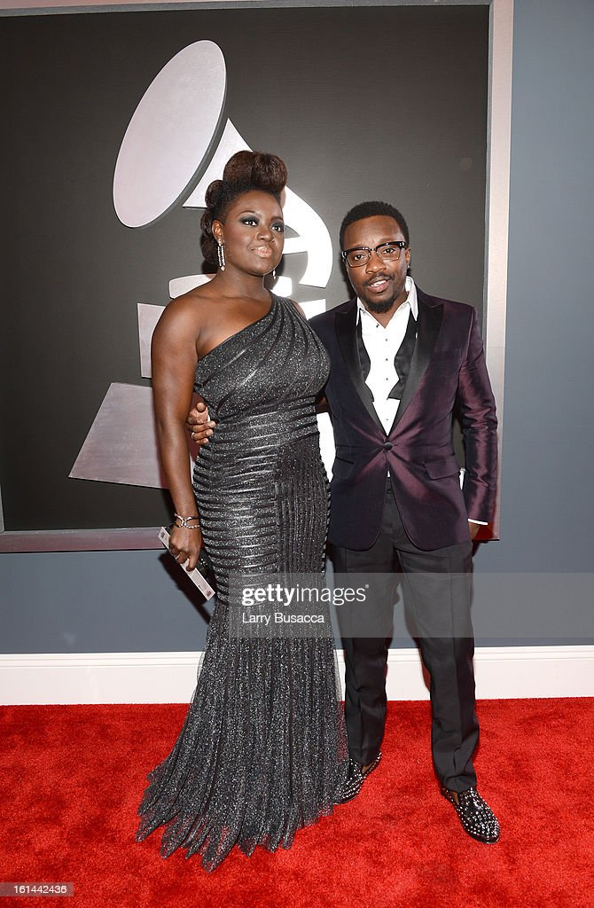 Musician Anthony Hamilton (R) and guest attend the 55th Annual GRAMMY Awards at STAPLES Center on February 10, 2013 in Los Angeles, California.