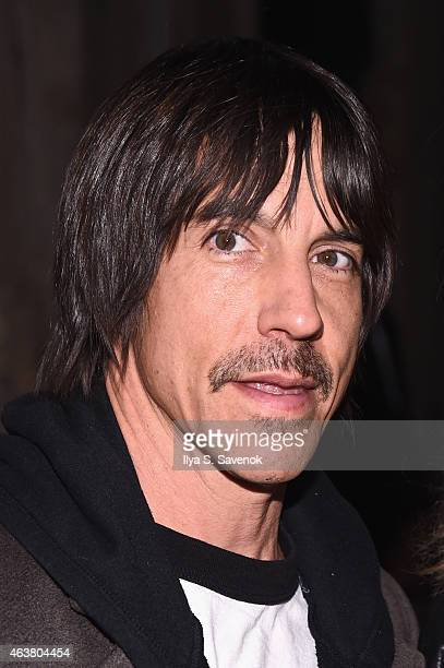 Musician Anthony Kiedis attends the Greg Lauren fashion show during MercedesBenz Fashion Week Fall 2015 at ArtBeam on February 18 2015 in New York...