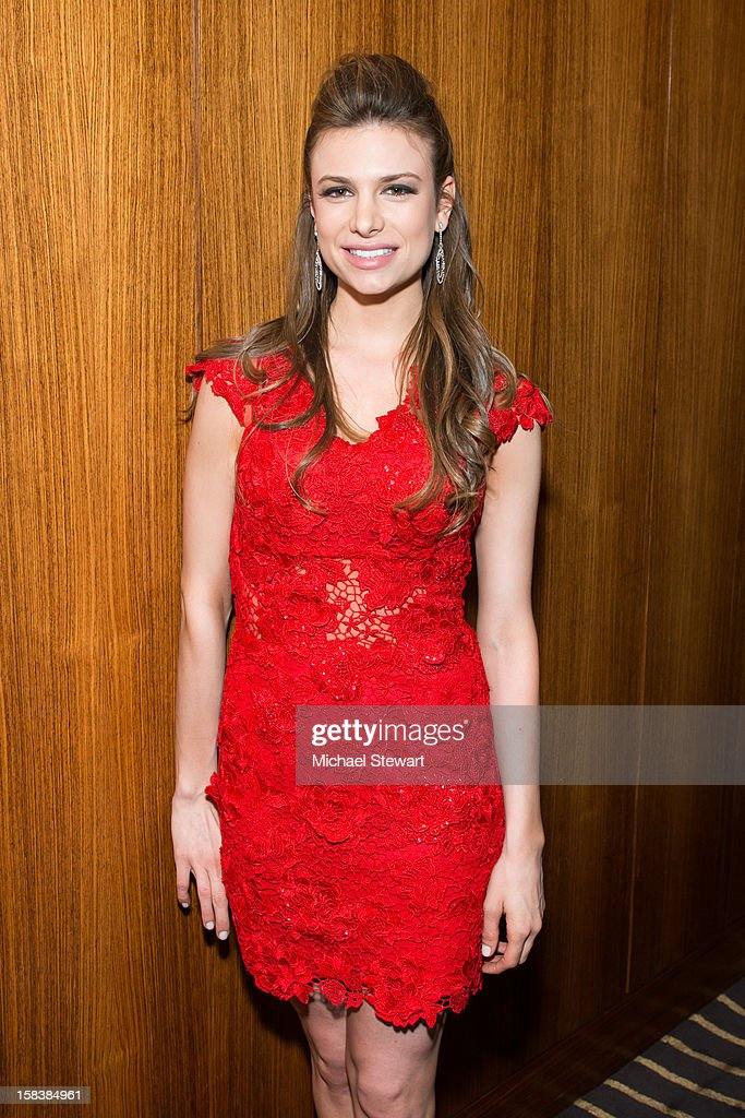 Musician Antoniette Costa attends Lonneke Engel And Valentina Zelyaeva Organice Your Life Annual Holiday Party at Time Warner Building on December 14, 2012 in New York City.