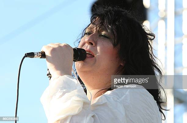 Musician Antony Hegarty from the band Antony and the Johnsons performs during day three of the Coachella Valley Music Arts Festival 2009 held at the...