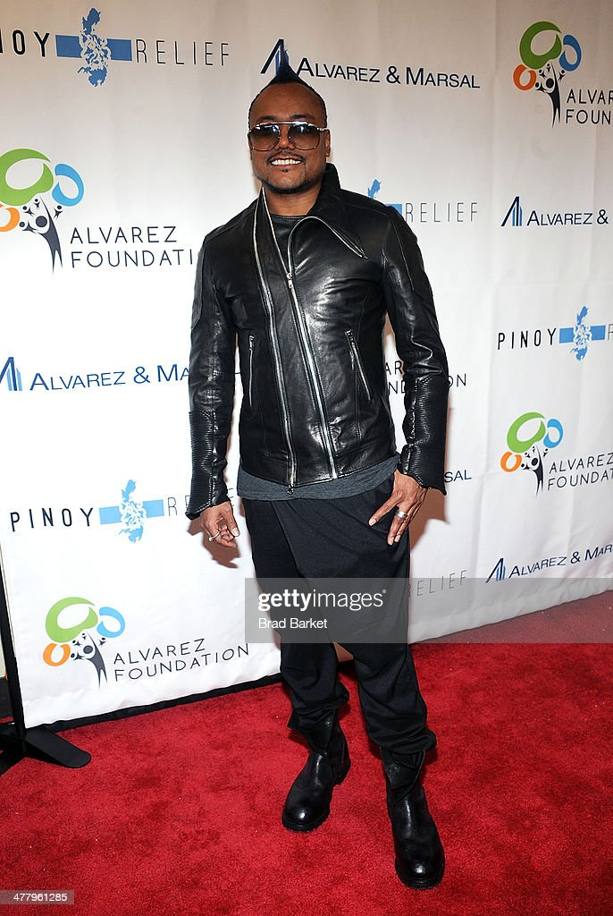 Musician apl.de.ap arrives at the Pinoy Relief Benefit Concert at Madison Square Garden on March 11, 2014 in New York City.