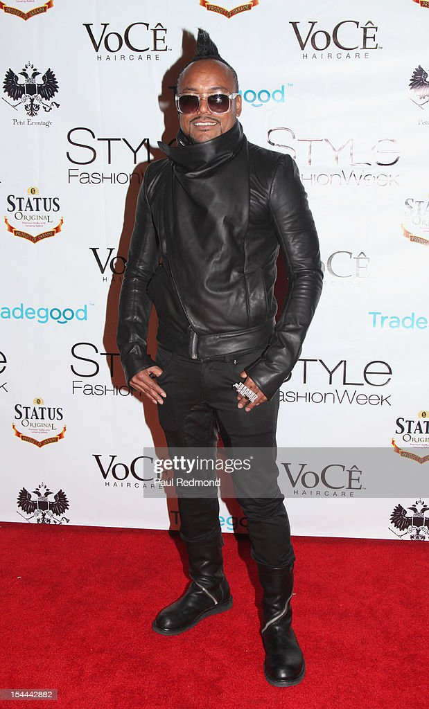 Musician apl.de.ap attends Alexis Monsanto Spring/Summer Collection 2013 Fashion Show at Vibiana on October 19, 2012 in Los Angeles, California.