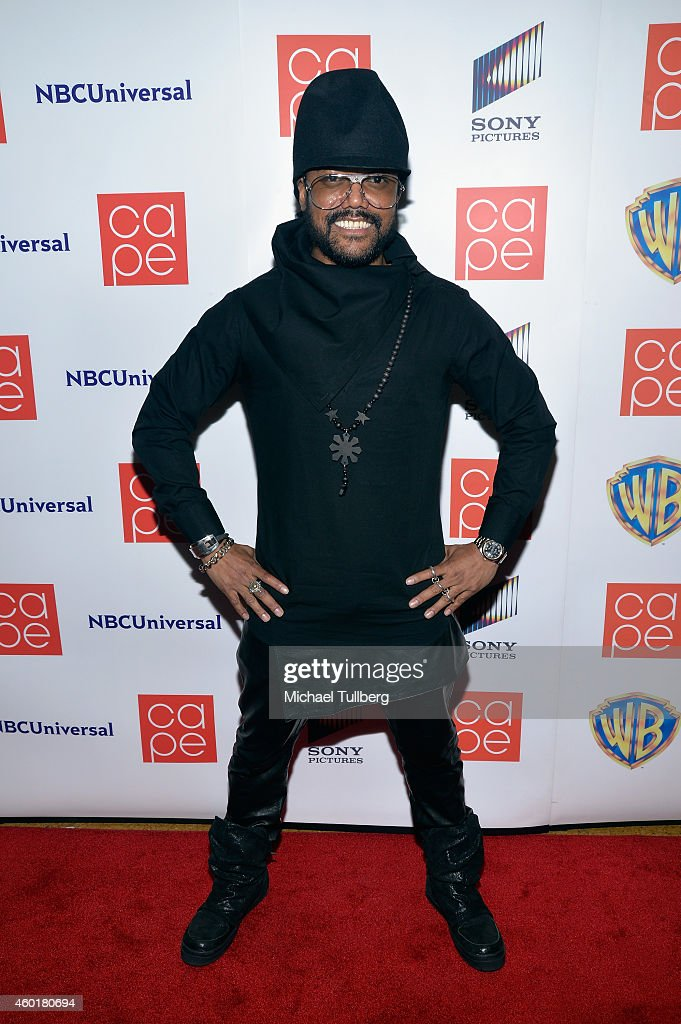 Musician apl.de.ap of the Black Eyed Peas attends the CAPE (Coalition of Asian Pacifics in Entertainment) Holiday Party at El Rey Theatre on December 8, 2014 in Los Angeles, California.