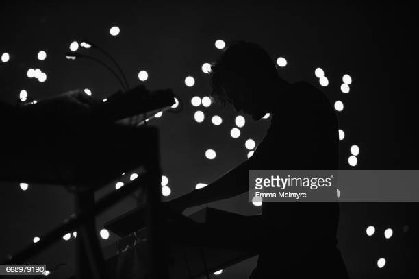 Musician Apparat of Moderat performs at the Mojave Tent during day 2 of the Coachella Valley Music And Arts Festival at the Empire Polo Club on April...