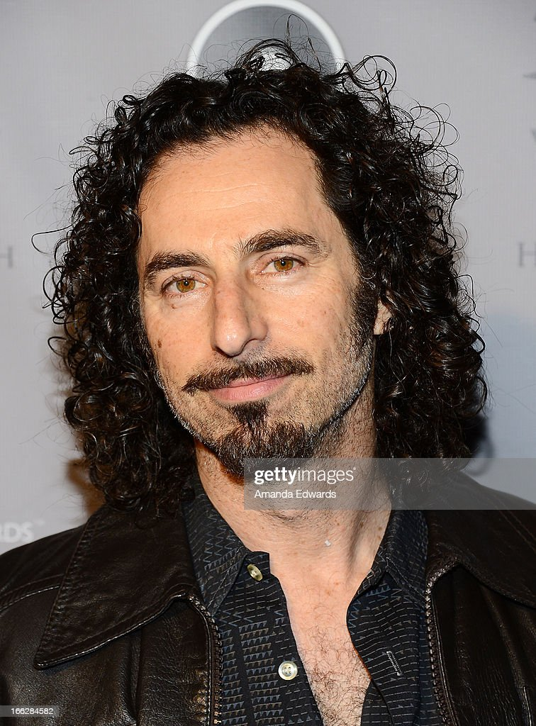 Musician Arlan Schierbaum of the band Heaven and Earth arrives at the Heaven and Earth 'Dig' world premiere album release party at The Fonda Theatre on April 10, 2013 in Los Angeles, California.