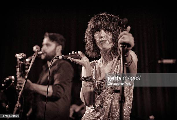 Musician Arleigh Kincheloe from Sister Sparrow The Dirty Birds performs at The Hotel Cafe on May 27 2015 in Hollywood California