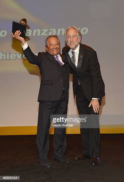 Musician Armando Manzanero and The Recording Academy president/CEO Neil Portnow attend the Special Merit Awards Ceremony as part of the 56th GRAMMY...