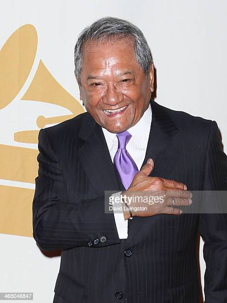 Musician Armando Manzanero attends the GRAMMY Foundation's Special Merit Awards ceremony at the Wilshire Ebell Theatre on January 25 2014 in Los...