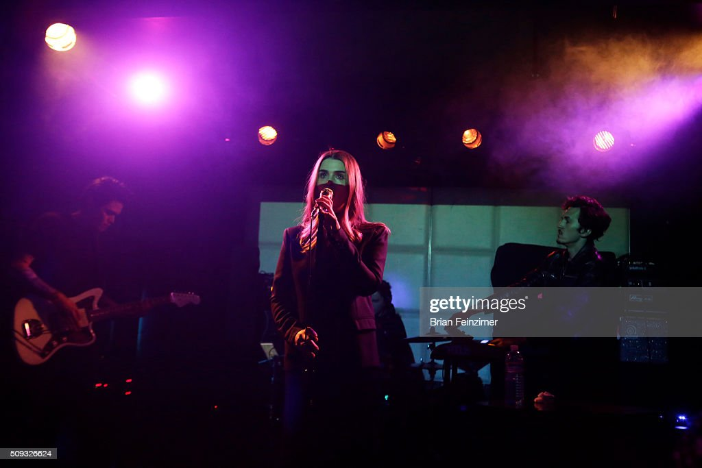 Musician ARO performs at The Echo on February 09, 2016 in Los Angeles, California.