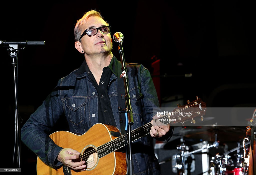 Musician <a gi-track='captionPersonalityLinkClicked' href=/galleries/search?phrase=Art+Alexakis&family=editorial&specificpeople=1064872 ng-click='$event.stopPropagation()'>Art Alexakis</a> attends the 2014 National Association of Music Merchants show at the Anaheim Convention Center on January 24, 2014 in Anaheim, California.